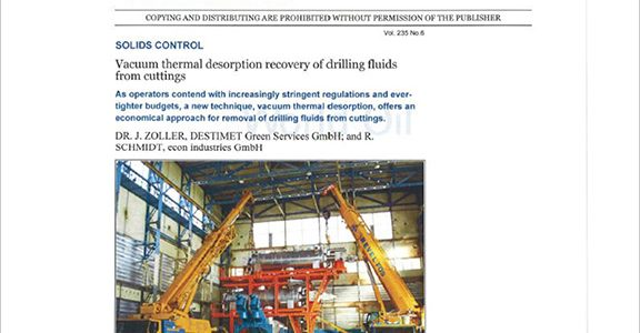 World Oil - Vacuum thermal desorption recovery of drilling fluids from cuttings