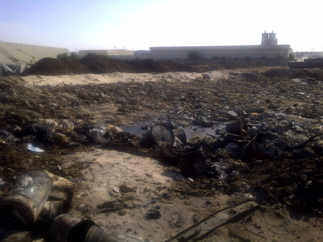 contaminated soil before treatment with VacuDry