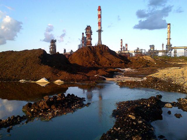 Oil lagoon