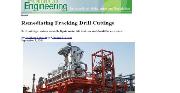 Pollution Engineering - Remediating Fracking Drill Cuttings