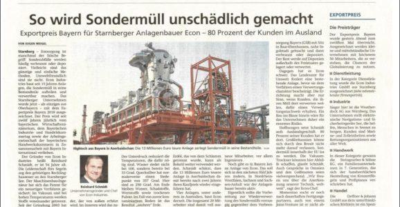 Münchner Merkur - This is how hazardous waste is rendered harmless