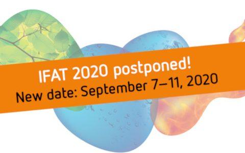 IFAT 2020 - Postponement to September