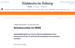 Süddeutsche Zeitung - Schatzsucher im Müll